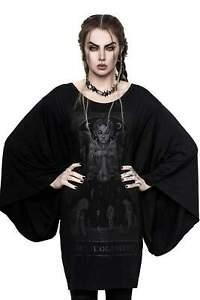 Killstar Gothic Goth Okkult Tunika Kleid Minikleid - Judgement Kimono