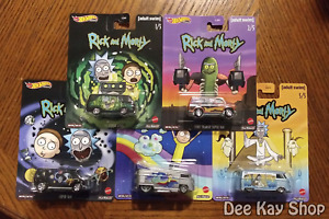 Rick and Morty Complete Set of 5 - Hot Wheels Premium Pop Culture (2020)