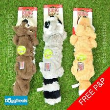 KONG Scrunch Knots Dog Toy - Fox Racoon Squirrel - Stretch Rope Squeak Chew