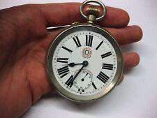 Riesige Roskopf Chronometre Bahnhofs Schaffner Taschenuhr Uhr  Eisenbahneruhr