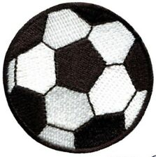Football Patch Embroidered Soccer Ball Badge Iron / Sew On T Shirt Bag 6.8cm