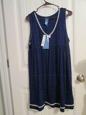 SIMPLYVERA Vera Wang $38 Intimates Blueprint Lace Trim Nightgown size XL NWT