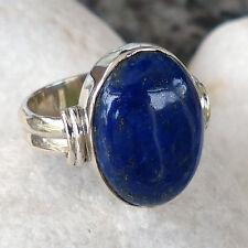 Echtschmuck-Ringe aus Sterlingsilber mit Lapis Lazuli und Cabochon für Damen