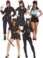 Ladies Police Costume Adults FBI SWAT Cop Fancy Dress Womens PC Uniform Outfit