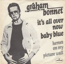 """GRAHAM BONNET IT'S ALL OVER NOW BABY BLUE / HEROES 1977 RECORD YUGOSLAVIA 7"""" PS"""