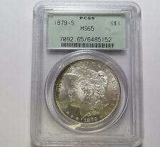 1879-S MORGAN SILVER DOLLAR ~ NICE COIN ~ PCGS MS65 Combined Shipping LOT K18