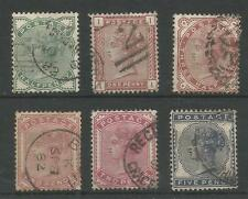 SG164-9 THE 1880-1 QV SET INCLUDING BOTH SHADES OF 2d FINE USED CAT £511