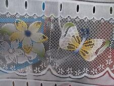 rideaux L 45 cm neuf papillons/fleurs  vendu par tranche de 21 cm