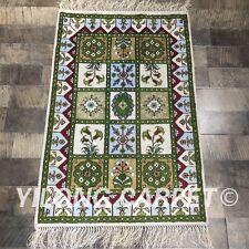 Yilong 2'x3' Handmade Vintage Garden Scenes Carpet Classic Oriental Rugs Y374C