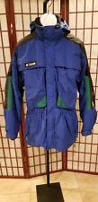 Mens Columbia Tectonite Winter Ski Jacket Parka Blue Fleece Liner Sz XL