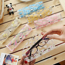 Plastic Transparent Clear Crystal Eyeglass Glasses Spectacle Case Box Holder