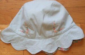 NEW Vintage 2002 GYMBOREE Reversible WESTERN PRAIRIE Blue HAT S M 3T 3 4T 4 NWT