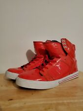 Supra mens Muska 001 Red hightop shoes size 13