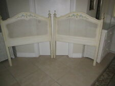 Hollywood Regency twin headboards Henry Link hand painted    set of two