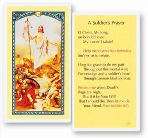 Soldier's Prayer, Fratelli Bonella Laminated Prayer Card, 25 Pack, From Italy