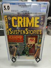 "CRIME SUSPENSTORIES #8 (1950 SERIES) - CGC GRADE 5.0 - ""HAUNT OF FEAR!"""