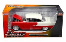 "1955 CHEVROLET BEL AIR HARD TOP RED ""SHOWROOM FLOOR"" 1/24 DIECAST BY JADA 98887"