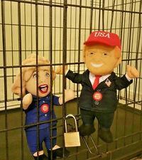 President Donald J. Trump / Hillary Clinton Talking Soft Plush Doll Set Of Two!!