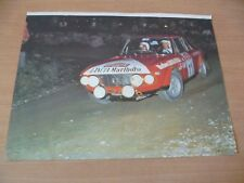 (3)  POSTER COMPETION AUTOMOBILE ANNEES 70  RALLY SAN REMO  39 X 29 CM