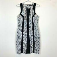 Portmans Womens Black Floral Short Sleeve Dress Size 10