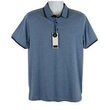NWT Men's Size Large Denim & Flower Ricky Singh Slim Fit Blue Polo Shirt