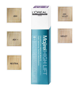 L'Oreal Majirel High Lift Hair Colour / Tint. Beige, Ash, Ash plus, Violet Ash