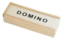 Domino Spiel in Holzkiste | Dominosteine Box | Spielsteine | Gesellschaftsspiele