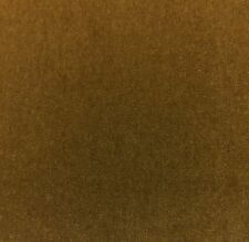 "BEACON HILL PLUSH MOHAIR CARAMEL BROWN WOOL VELVET UPHOLSTERY FABRIC BY YD 55""W"