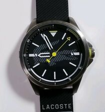 Lacoste 2010941 Capbreton Watch With 46mm Black Face & Black Silicone Band
