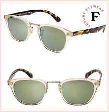369ddc487bd2 Oliver Peoples LERNER Retro Sunglasses OV5369S Buff Tortoise Green Mirror  Unisex