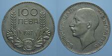BULGARIA 100 LEVA 1937 BORIS III qSPL