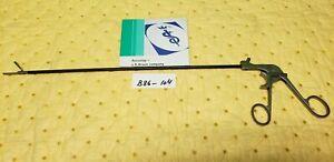 Aesculap 8360-00 Surgical Laparoscopic Atraumatic Forceps 5mmx35cm Single Action