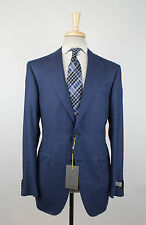 NWT CANALI EXCLUSIVE 1934 Blue Super 150s Wool Blend Slim Fit Suit 54/44 R $2995