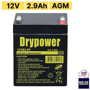 DRYPOWER 12V 2.9AH Battery | SLA  | Backup, UPS | F1 Term | 99.99% Purity
