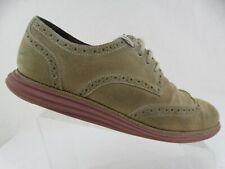 COLE HAAN Suede Brown Sz 10 M Men Lunargrand Wingtip Sneakers