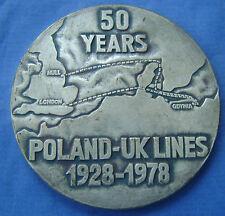Polen - Poland 1978 - medal / penning 50 years Poland - UK Lines 1928 - 1978