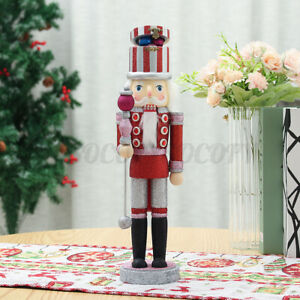 "Soldier Nutcracker Gold Glitter Model Wood Decor Christmas 12"" Kurt Adler Gift"