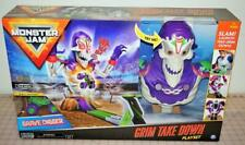 Monster Jam Grim Take Down Playset with Grave Digger Monster Truck, NEW SEALED!
