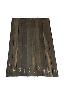"2 Pack, Gaboon Ebony Wood Sticks, Square Blanks, Cutting board 13.5"" x 1"" x 3/8"""