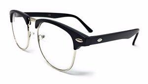 KIDS CLEAR LENS 1950's Vintage Glasses Boys Girls Novelty Fashion Fancy Dress UK