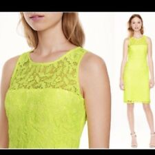 J Crew Collection Yellow Lace Dress size 00
