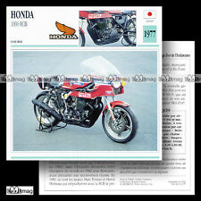 #061.07 HONDA 1000 RCB 1977 Fiche Moto Racing Motorcycle Card