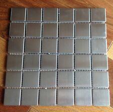 "10 sqft 2"" x 2"" Stainless Steel Brushed Metal Tile - 10 -12""x12"" sheets per item"