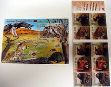 ELEPHANT STAMPS BOOKLET SS LOT SOUTH AFRICA ANIMALS CHEETAH BIRD LION OX RHINO