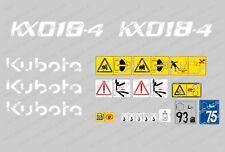 Kubota KX018-4 Ensemble Complet Autocollant Mini Pelle