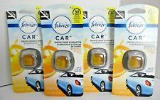 4-PACK Febreze Car SMOKE ODOR ELIMINATOR Vent Clip Fresh Citrus Air Freshener