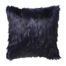 Logan and Mason Presley Ink Faux Fur Filled Square Cushion 45cm x 45cm