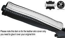 BLACK & WHITE in pelle e del freno di emergenza MANIGLIA cover si adatta Camaro Firebird 93-02