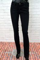 Pantalone GAS Donna Taglia Size 27 Jeans Woman Black Nero Pants Elastico Stretch