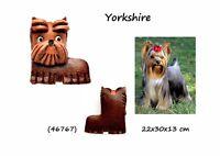 Llavero Hombre de Cuero Colgante Cuero Mujer Perros Yorkshire Pets